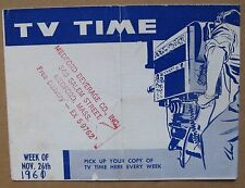 "1961 Vintage TV Guide ""TV Time"", small folded pamphlet"