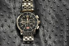 MICHELE MW01K00D9002 Sport Sail Black Chronograph Watch 0106 STAINLESS BAND