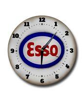 "ESSO 250MM/10"" DIAMETER METAL WALL CLOCK,GARAGE CLOCK,WORKSHOP CLOCK.MAN CAVE"