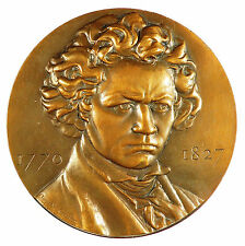 Music LUDWIG VAN BEETHOVEN (1770-1827) Composer by Coutin bronze 68mm