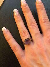 Ring Jugendstil, 333er Gold, 14 Karat Ringgröße 56, Lilaner Stein