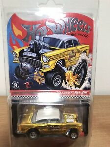Hotwheels RLC 2019 Selections '55 Chevy Bel Air Gasser Dirty Blonde + Protector
