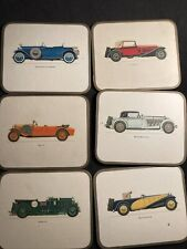 Vintage Car Coasters Gold Edged Regent Series With Box