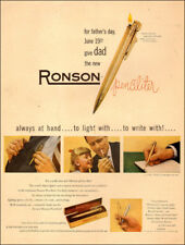 1949 vintage AD RONSON Penciliter Light and Write! Father's day gifts  050618