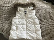 Gap kids winter white gilet age 13 years