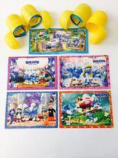 Kinder surprise Schtroumpfs Puzzles Jeu complet de 4 & BPZ Ltd Edition 2017 RARE
