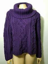 NWT Paul James purple 100%  Wool Cable Knit  Size XL England