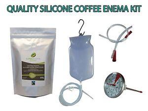 COFFEE ENEMA STARTER KIT  - QUALITY SILICONE ENEMA BAG - AUSTRALIA GERSON GRINDS