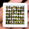 VVS 48 Pcs Top Quality Natural Tourmaline 5mm/4mm Mix Green Brown Colors