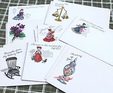 Vintage Illustrated Postcards Lot of 13  FREE SHIPPING!