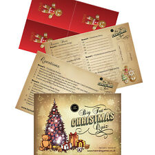 Christmas Pub Quiz Trivia Game Xmas Family Party Table Games Adults Families