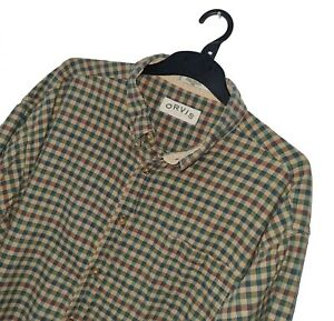 Men's ORVIS SPORTING TRADITIONS Premium Check Pattern Shirt *FITS* LOOSE 2-3XL