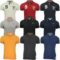 Mens Polo Shirt by Crosshatch 'Kaneta' Short Sleeved