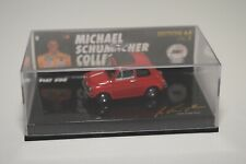 V 1:64 MINICHAMPS MICHAEL SCHUMACHER FIAT 500 CLOSED ROOF RED MIB