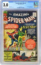 S375. AMAZING SPIDER-MAN #9 Marvel CGC 3.0 GD/VG 1964 Origin/1st App. of ELECTRO