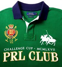 POLO Ralph Lauren M Challenge PRL Cup Rugby Polo Shirt Big Pony Green Custom Fit