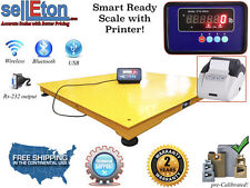 "Warehouse Pallet size 48"" x 48"" 4' x 4' Floor scale & Printer 5000 lbs x 1 lb"