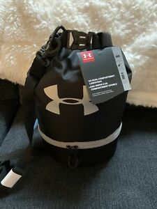 Under Armour Black Dual Compartment Cooler Gym Sport Travel Food Lunch Bag New