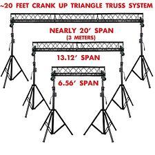 20' ft Wide Crank Triangular Trussing Mobile DJ Lighting Truss System Triangle