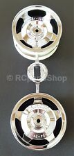 Tamiya Neo Scorcher/Rising Storm/DF02 Plated Star-Dish Front Wheels 53089 - New