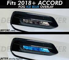For 2018-2021 ACCORD ICE BLUE FOG Lights Front overlays vinyl tint precut 4DR