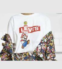 Levi's x Super Mario - Men's White Graphic T-Shirt - Short Sleeve - M SIZE