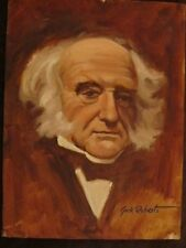 "JACK ROBERTS OIL painting MAN WHITE HAIR MALE PORTRAIT SIGNED QUALITY 12"" X 16"""