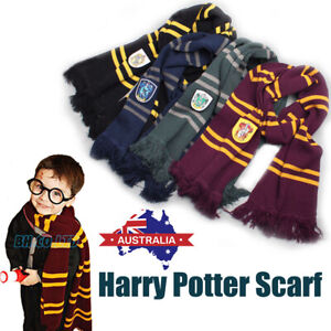 HARRY POTTER SCARF COSTUME GRYFFINDOR HUFFLEPUFF RAVENCLAW SLYTHERIN ADULT KIDS