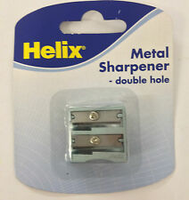 10 x HELIX METAL SHARPENER PENCIL DOUBLE HOLE