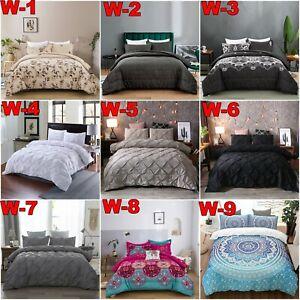 Floral 3PCS Comforter Duvet/Quilted/Doona Set Queen/King Size Blanket Supersoft