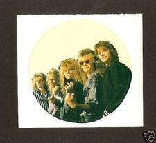 Europe Joey Tempest Pop Rock Music UK Sticker Card Look!
