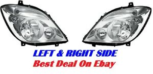 07-14 DODGE FREIGHTLINER SPRINTER HEADLIGHTS PAIR Left + Right CLEAR EURO STYLE