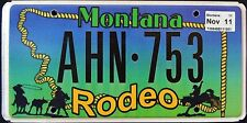 "MONTANA "" RODEO COWBOY BUCKING HORSE - AHN 753 "" MT Specialty License Plate"