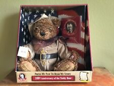 Dan Dee 100th Anniversary Ltd Ed *TALKING* NIB* Teddy Bear Theodore Roosevelt Ed