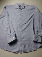 Scott Barber Mens Shirt Size XL Blue Long Sleeve Button Front 100% Cotton
