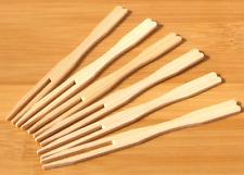 Small buffet & canapé wood fork 9cm x 200