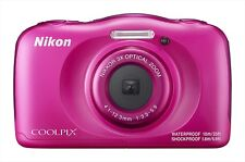 Nikon Digital Camera Waterproof 3x COOLPIX W100 Pink 13.17Mp Wi-Fi NEW