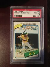 1980 Topps Rickey Henderson #482 PSA 8++ RC Nicely centered, sharp & clean!