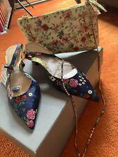 Zara Printed Satin Slingback Shoes Size 39 UK 6  And Bag