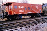 Original Slide Delaware & Hudson Railroad Caboose 35719 1981