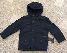 Boys Size 5 6 Ben Sherman Black Hooded Winter Coat Fleece Lined Zip 0CBS031H