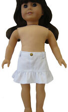 """White Ruffle Skirt fits 18"""" American Girl Doll Clothes Western Cowgirl Cowboy"""