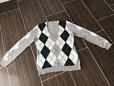 3afcee9c373c Original PUBLIC Damen Pullover Strickpullover Größe XL grau weiß schwarz  kariert