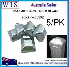 5/PK 50mm x 50mm Galvanised Fence Fittings Caps for 50mm Square Posts-65902