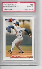 1992 Bowman #82 Pedro Martinez Rookie Card Red Sox HOF'er Graded PSA 9 Mint
