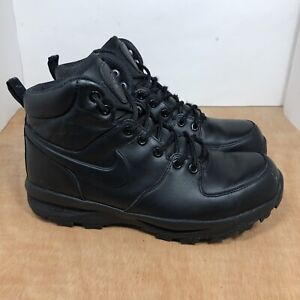 Nike ACG Manoa Leather Triple Black Boots Men's size 9 US 454350-003