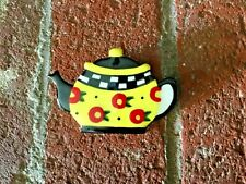 Super Rare Vintage Mary Engelbreit Pin Brooch Xl Size Teapot Ceramic 1990s Euc