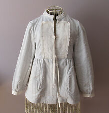 MARC JACOBS Light Blue Double Faced Cotton Jacket Eyelet Trim Size 4 XS $54.99