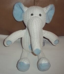 Tommee Tippee Blue & White Elephant Soft Breathable Baby Comforter Toy  VG / CON