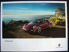 PORSCHE OFFICIAL 997 911 TURBO CABRIOLET BY OCEAN SHOWROOM POSTER 2010-12